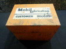 mobil lubrication customer record metal box