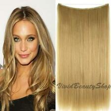 Halo Invisible Wire Flip No Clip In Remy Human Hair Extension Dark Blonde #18