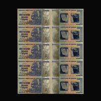 5pcs 100 Trillion Dollar Zimbabwe Gold Banknote Paper Money Holiday Gifts