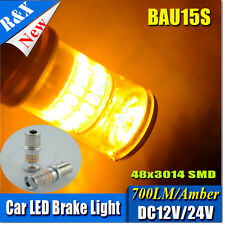 2x 1156 BAU15S PY21W Canbus Error-Free Amber 48 SMD CAR LED Indicator Bulbs 581