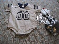 Baby Infant Reebok Tampa Bay Lightning 3 Piece Set 6/9 Months creeper hat bootie