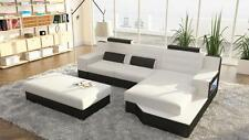 Designer Leather Textile Pads Set Interior Design L-SHAPE Sofa Couch Corner Sofa