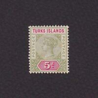 TURKS ISLANDS 1894, Sc# 54, Perf 12, 'Queen Victoria', MH