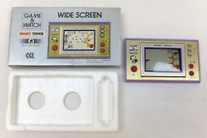 BOXED NINTENDO 1982 SNOOPY TENNIS GAME & WATCH HANDHELD - TESTED & VGC