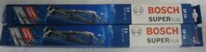 """Pair of Bosch SP16 windscreen wipers Superplus, 400 mm, 16"""" longlife rubber, new"""