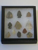 Vintage Arrowhead Collection Native American Indian; Qty 11; Lot #4
