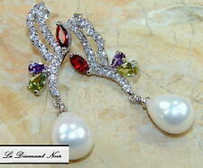 LDN_Boucles D'oreilles Perles Grenat Peridot Améthyste _Argent 925_89.90€