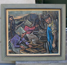 Bent Lauridsen ( 1926) Fisherwomen at the Gammel Strand fish market. Large!