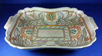 LARGE CROWN DUCAL TUBE LINED ART DECO PERIOD DISH CHARLOTTE RHEAD STYLE DESIGN