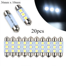 20x 3W 3SMD 5050 6418 C5W CANBUS Error Free LED Bulb License Plate Dome Light