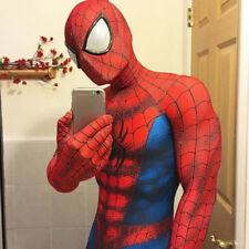 Spiderman Costume Adult Halloween Cosplay Mask spandex Superhero zentai Jumpsuit