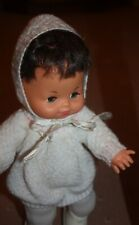 VINTAGE 1980s BROWN-HAIR GIRL DOLL. COMPLETE WITH ORIGINAL CLOTHES