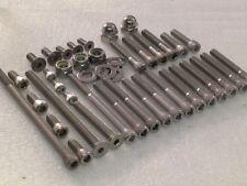Triumph T160V Trident Engine casings 49pc Stainless Steel Allen bolts kit UNC BA