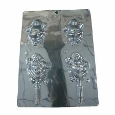 1 x Father Christmas Front And Back Lollipop Mould - Making Home Cooking Baking