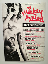 MICKEY AVALON Australian Tour Poster 2013 Loaded I Like It Raw UNWRITTEN LAW*NEW