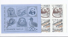 Sweden 1985 WWF Nature (Mouse, Char Fish) Booklet, SC# 1526-1527a, Complete MNH*