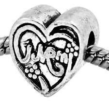 Mom Heart Mother Gift Family Love Bead fits Silver European Style Charm Bracelet