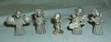 Set of 4 Vernon Pewter Musical Angels Figurines + Little Gallery Child Angel