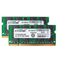 8GB 2x4GB PC2-6400 DDR2-800Mhz DDR2 200pin Sodimm Nonparity Laptop Memory RAM