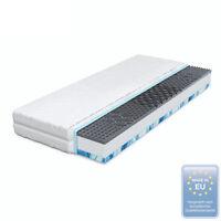 Komfort Gel Matratze 90x200 Gelschaum 7 Zonen MEMORY Komfortschaum Klimafaser