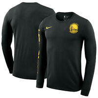 NIKE Golden State Warriors Championship Long Sleeve Shirt XX-Large Black Yellow