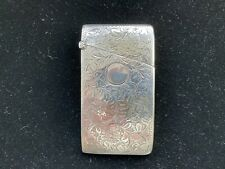 ANTIQUE SILVER CARD CASE BY HENRY GRIFFITH PLANTE 1902