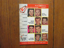 June-1961 N Y Herald Tribune TV & Radio Mag(DEBRA  PAGET/LISA  GAYE/JAMES ARNESS