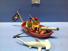 (M71) playmobil barque des pirates avec requin marteau 5137 5135 5134