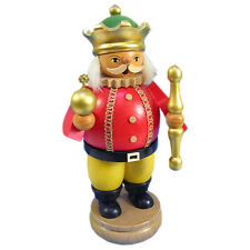 Wooden Standing King Holding Scepter German Incense Smoker Made In Germany