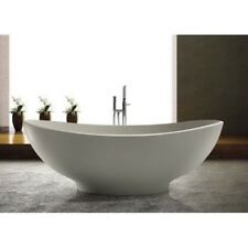 Bathtub Freestanding- Solid Surface Bathtub- Modern Soaking Tub- Esperia III 63""