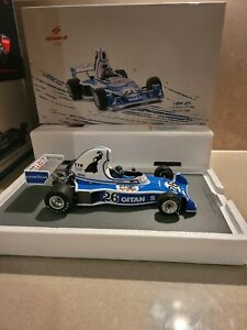 Spark 1:18 Ligier JS5 F1 Gitanes USA GP Jacque Laffite