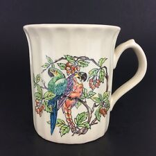 Coffee Mug Cup Sunnycraft Stoneware Collection 21124 Hand Decorated Parrots