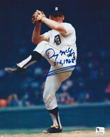 Detroit Tigers Denny McLain autographed 8x10 color photo 31-6, 1968 added W/COA