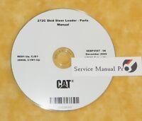 SEBP4567 Caterpillar 272C Skid Steer Loader Parts Manual Book CD. RED CYM CJS