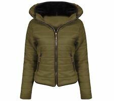 Womens Girls Winter Padded Jacket School Christmas Fur Bubble Puffer Thick Coat