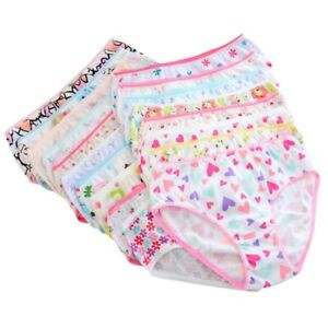 6Pcs Baby Girls Briefs Underwear Shorts Cute Cotton Panties Cartoon Underpants