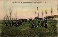 CPA LYON 16e Bataillon d'Artilerie a Pied En Batterie (461201)