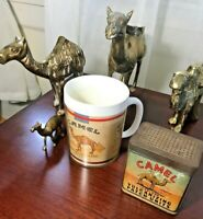 Vintage Brass Lot - 4 Camels- 1 Cup - 1 Vulcanizing Patch Tin Vtge 6 PIECES LOT