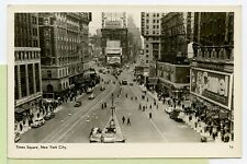 Rppc ~ Ny New York City Times Square Advertisements ~ Real Photo Postcard ~Camel