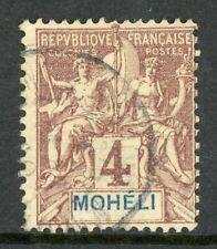 Moheli 1892 French Colony 4¢ Scott #3 VFU H550