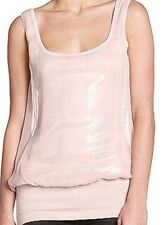 Bailey 44 Double Toil & Trouble Tank Top Sleeveless Silk Sequin Pink Blouse XS