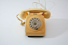 Vintage Retro BT Rotary Telephone standard Beige wired for modern phone systems