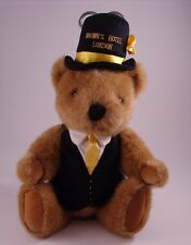 Brown's Hotel London TVBBC Great Britain Plush Teddy Bear Jointed Arms Legs Head