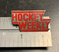 Hockey Weekly Metal Pin - Good Condition