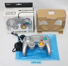 Nintendo Gamecube Mando Plata DOL-003 Trabajo Joypad en Caja 1809-9