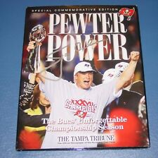 JOHN GRUDEN signed BUCS SUPERBOWL CHAMPIONS BOOK PEWTER POWER Tampa BUCCANEERS