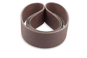 2 X 48 Inch 180 Grit Flexible Aluminum Oxide Multipurpose Sanding Belts, 6 Pack