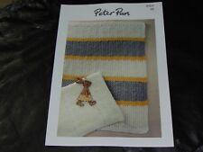 PETER PAN Double Knitting Pattern P1317 Pram Blankets