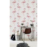 Flamingo Pink Animal removable wallpaper self adhesive wall mural peel and stick