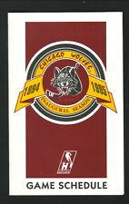 Chicago Wolves--1994-95 Pocket Schedule--Budweiser Ice Draft
